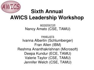Sixth Annual  AWICS Leadership Workshop