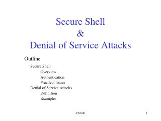 Secure Shell & Denial of Service Attacks