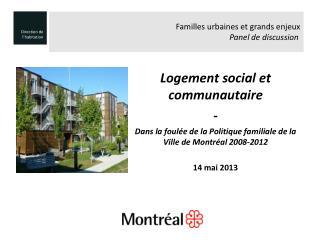 Logement social et communautaire  -