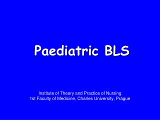 Paediatric BLS