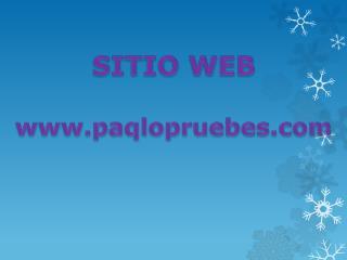 SITIO WEB paqlopruebes