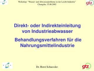 Dr. Horst Schuessler
