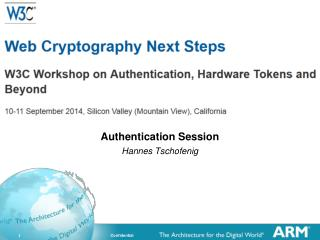 Authentication Session Hannes Tschofenig
