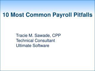 10 Most Common Payroll Pitfalls