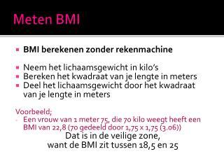 Meten BMI