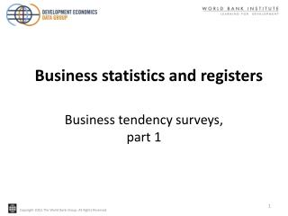 Business tendency surveys,  part 1