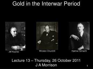 Gold in the Interwar Period