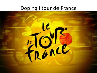 Doping i tour de France