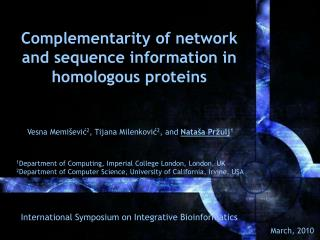 Complementarity  of network and sequence information in homologous proteins