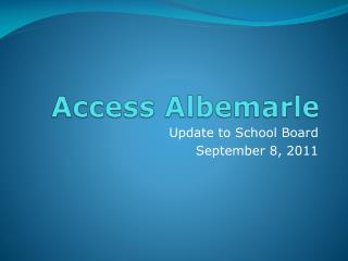 Access Albemarle