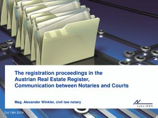 The  registration proceedings  in  the Austrian Real Estate Register,