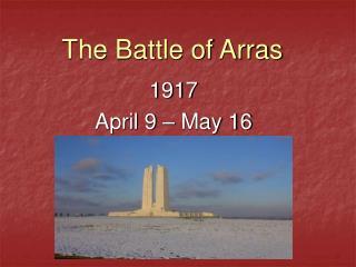 The Battle of Arras