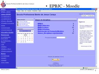 EPBJC EPBJC - DCCC Lisboa–DCOET >Contabilidade 01 >Contabilidade 02 >Fóruns – Reuniões