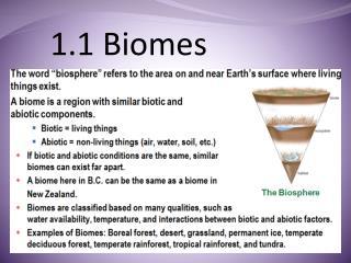 1.1 Biomes