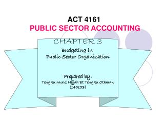 ACT 4161 PUBLIC SECTOR ACCOUNTING