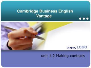 Cambridge Business English Vantage