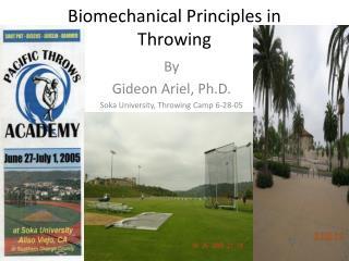 Biomechanical Principles in Throwing