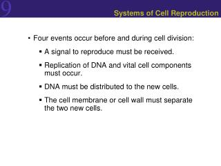 Systems of Cell Reproduction