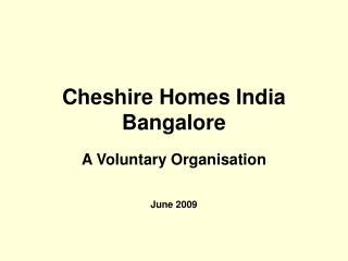 Cheshire Homes India Bangalore