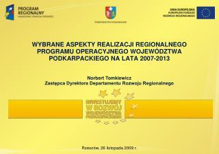 Rzeszów, 26 listopada 2009 r.