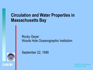 Circulation and Water Properties in Massachusetts Bay