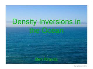 Density Inversions in the Ocean