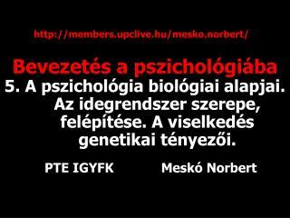 Bevezetés a pszichológiába