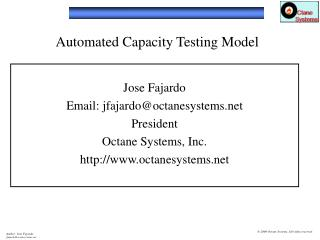 Automated Capacity Testing Model