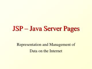 JSP – Java Server Pages