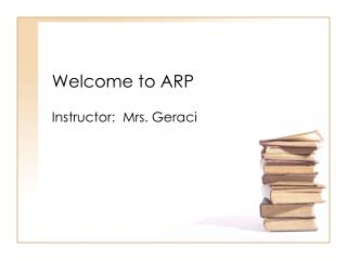 Welcome to ARP
