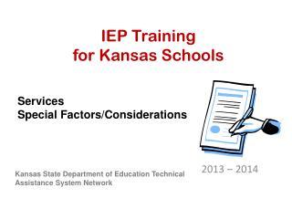 IEP Training for Kansas Schools