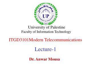 ITGD3101Modern Telecommunications Lecture-1