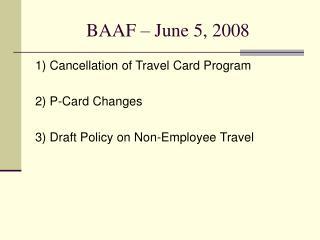 BAAF – June 5, 2008