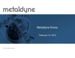 Metaldyne Korea