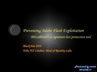 Preventing Adobe Flash Exploitation