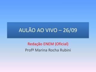 AULÃO AO VIVO – 26/09