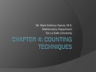 CHAPTER 4: Counting techniques