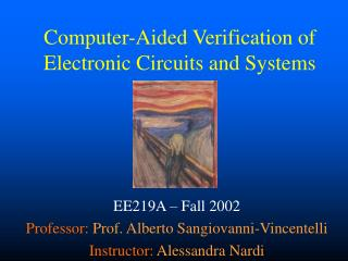 Computer-Aided Verification of Electronic Circuits and Systems