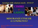 Sociologia delle relazioni etniche 29