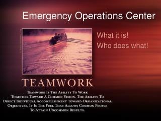 EOC Operations