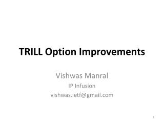 TRILL Option Improvements
