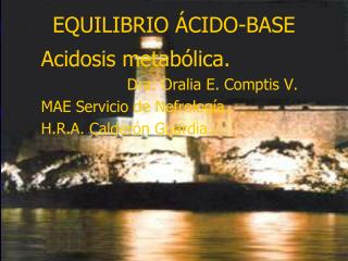 EQUILIBRIO �CIDO-BASE
