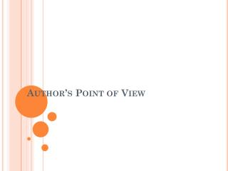 Author�s Point of View