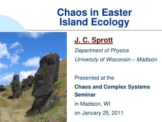 Chaos in Easter Island Ecology