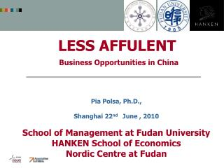 LESS AFFULENT  Business Opportunities in China