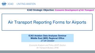 Air Transport Reporting Forms for Airports