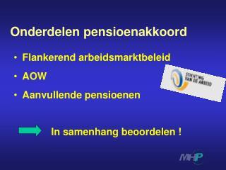 Onderdelen pensioenakkoord