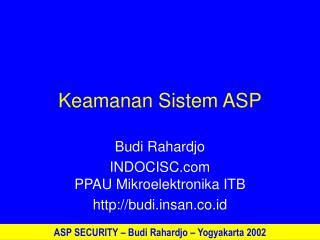 Keamanan Sistem ASP