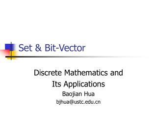 Set & Bit-Vector