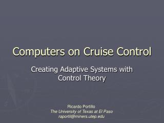 Computers on Cruise Control